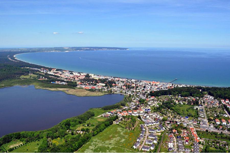 Luftaufnahme von Binz auf der Insel Rügen
